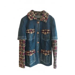 Chanel 2016 fall fantasy Tweed Denim Runway jacket 38