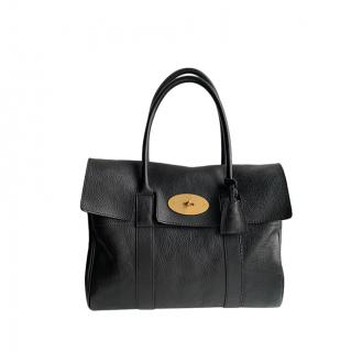 Mulberry Black Grained Leather Bayswater Tote