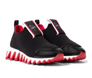 Christian Louboutin Tiketa Leather-trim Neoprene Runners