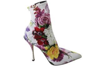 Dolce & Gabbana White Stretch Sock Boots