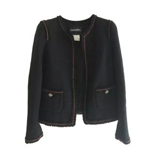 Chanel Paris/Moscow Black & Red Tweed jacket