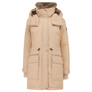 Woolrich Oil Chena Lamb Hooded Jacket