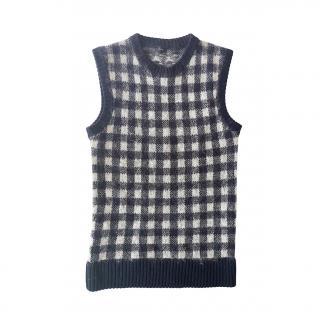 Joseph Check Mohair Blend Sweater Vest