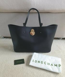 Longchamp Black Cavalcade Tote Bag
