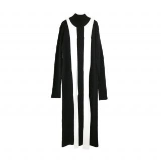 Marques/Almeida Black & White Merino wool Runway Dress
