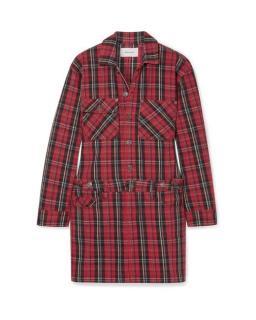 Current/Elliott Red Plaid Shirt Dress