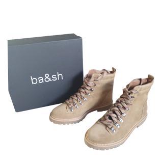 Ba&Sh Beige Suede Colorado Boots