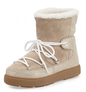 Moncler Fanny Shearling-Lined Lace-Up Boot