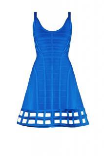 Herve Leger Cut-Out Fit & Flare Mini Dress
