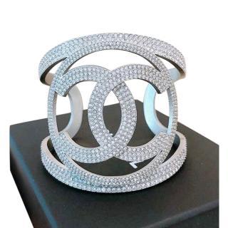 Chanel Rare Crystal Emebellished CC Open Cuff