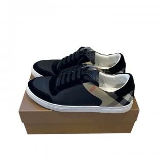 Burberry Black & House Check Sneakers