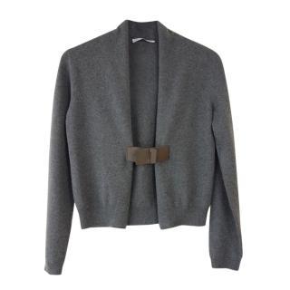 Fabiana Filippi Grey Cashmere Short Cardigan