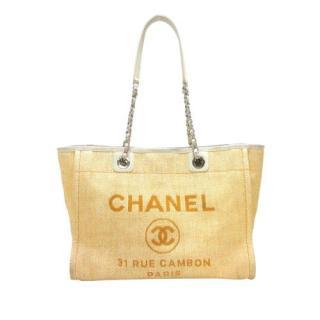 Chanel Deauville Raffia Tote Bag