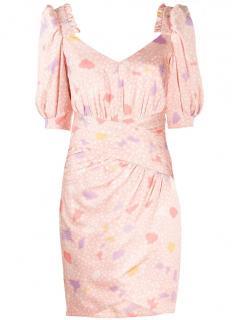 Three Floor Greta Pink Silk Dress