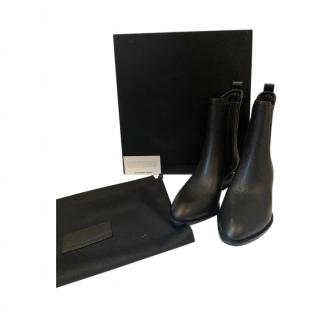 Alexander Wang Black Leather Boots with Cut-Out Heel