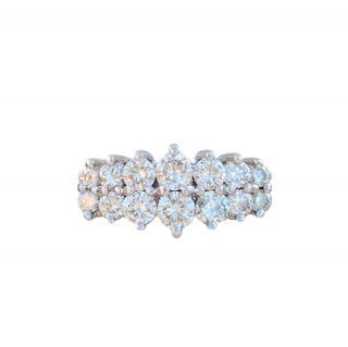 Bespoke 14t White Gold Diamond Ring