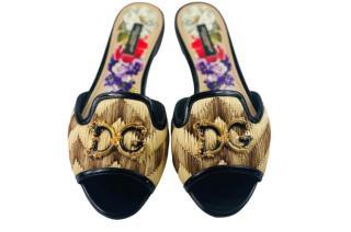 Dolce & Gabbana Amore Raffia Slides