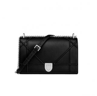 Dior Black Leather Medium Diorama Shoulder Bag