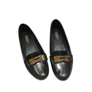 Louis Vuitton Polished Leather Loafers