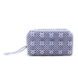 Shrimps Molly Lilac Faux-Pearl Beaded Minaudiere