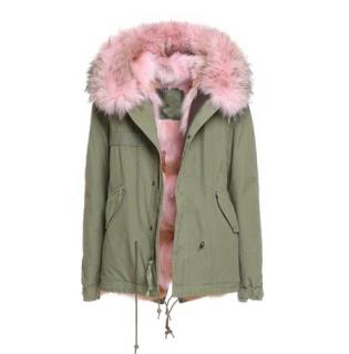 Mr & Mrs Italy Coyote Pink Fur Khaki Parka