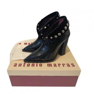 Antonio Marras Studded Patent Ankle Boots