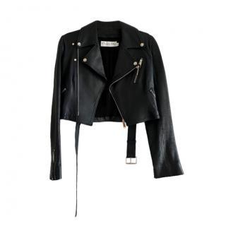 Dior Black Leather Biker Jacket