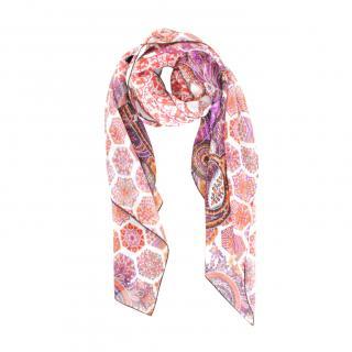Gucci Printed Silk Pink Scarf