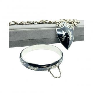 Bespoke Sterling Silver Vintage Pendant Necklace & Bracelet