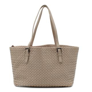 Bottega Veneta Taupe Intrecciato Leather Tote Bag
