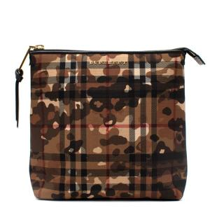 Burberry Camouflage & Horseferry Check Canvas Pouch
