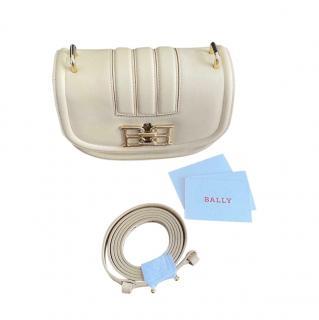 Bally Pale Yellow Bailey Mini Shoulder Bag