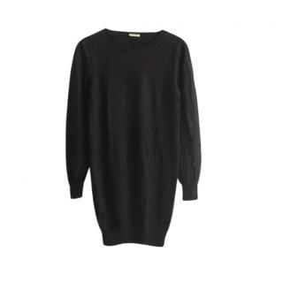 Miu Miu Black Oversize Wool Knit Jumper