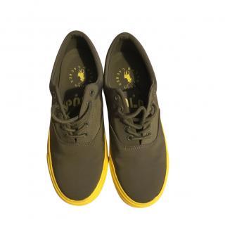 Polo Ralph Lauren Bryn Khaki/Yellow Sneakers