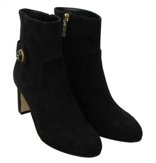 Dolce & Gabbana Black Suede Ankle Boots