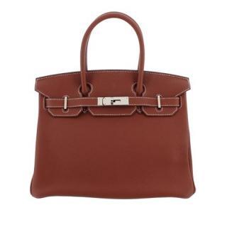 Hermes Togo Leather  Birkin 30 PHW