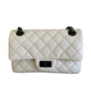 Chanel White Leather Reissue Mini 2.55 Bag