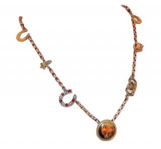 Bespoke Rose Gold Victorian Charm Necklace