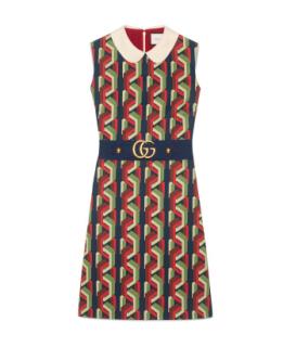 Gucci Web Chain Cady Print Dress