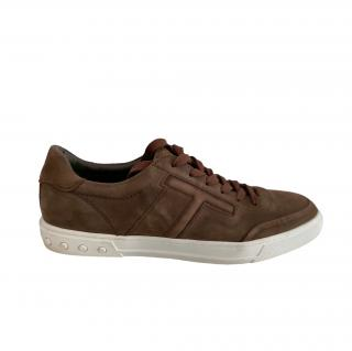 Tod's Brown Suede T Sneakers