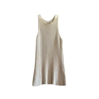Dion Lee Button Back Ribbed Knit Sleeveless Top