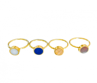 Pippa Small Mountain Collection Stacking Rings