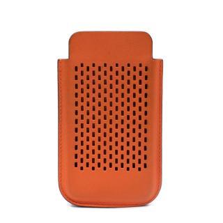 Hermes Small Orange Swift Leather Tech Case