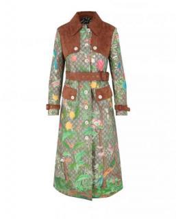 Gucci Canvas Tian Print GG Supreme Coat