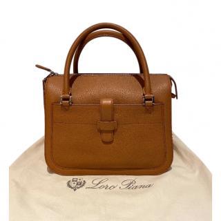 Loro Piana Tan Leather Shoulder Bag