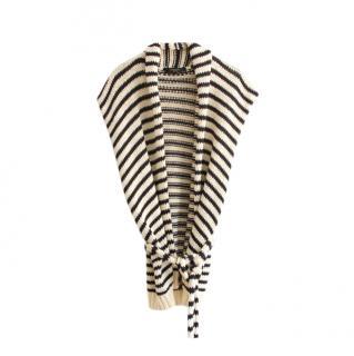 Max Mara Striped Knit Scarf Vest