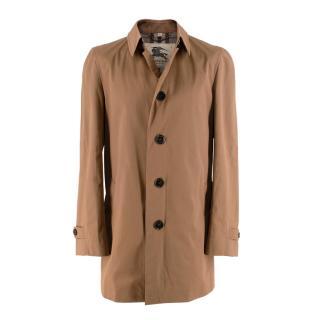 Burberry Pimlico Tan Cotton Gabardine Car Coat