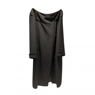Prada Black Off-Shoulder Dress Coat