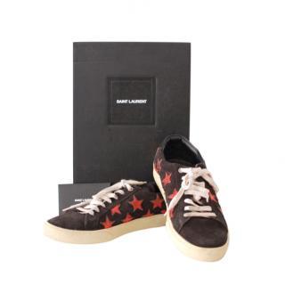 Saint Laurent Black Star Suede Sneakers