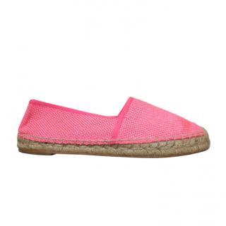 Stella McCartney Pink Mesh Espadrilles